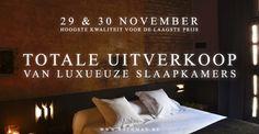 Totale uitverkoop luxueuze slaapkamers!!! -- Brugge -- 29/11-30/11