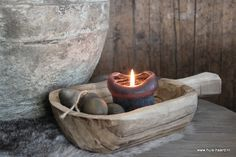 Houten schep L Table Accessories, Candle Lanterns, Sober, Wabi Sabi, Spa, Rustic, Outdoor Decor, Design, Home Decor