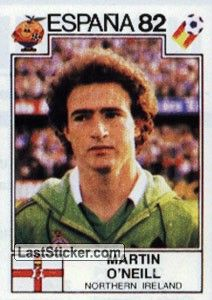 MARTIN O'NEILL Northern Ireland (1982)
