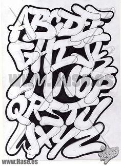 20 Tipos de letras para dibujar (graffitis y goticas) - Taringa! Stencil Lettering, Graffiti Lettering Alphabet, Tattoo Lettering Fonts, Doodle Lettering, Alphabet Fonts, Graffiti Art, Graffiti Numbers, Graffiti Drawing, Alfabeto Graffiti