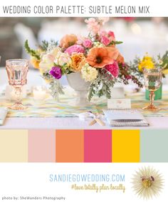 A Subtle Mix of Melon Colors Makes for a Yummy Wedding Tablescape Palette  http://www.sandiegowedding.com/blog/a-subtle-mix-of-melon-colors-makes-for-a-yummy-wedding-tablescape-palette/2017/1/30