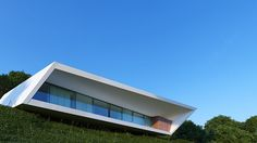 nravil's angular 'white line' house overlooks lively kazakh landscape