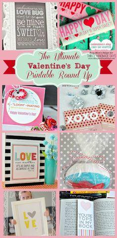 Ultimate Valentine's Printable Round Up / by Busy Mom's Helper for ThirtyHandmadeDays.com