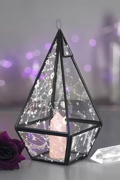 Original item by KILLSTARBeautiful terrarium made in metal & printed glass. Perfect for displaying crystals, small objects or plants. Loop top if you prefer to display it hanging. Size: 26 x x Wiccan Decor, Wiccan Altar, Gothic Bathroom, Home Design, Design Ideas, Aesthetic Bedroom, Aesthetic Dark, Aesthetic Fashion, Gothic House