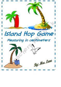 Island Hop...A Measurement Game (Great Center or Workstation!)