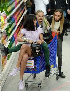 Rihanna, Cara Delevigne, & Joan Smalls at Chanel