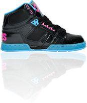 Osiris Girls NYC 83 Slim Black, Cyan & Magenta Shoe