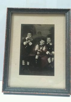Rare #Gelatin #Silver #FramedPhoto #Picture #Brothers in School Uniform/Dress Code Makes a great gift for anyone with brothers... it is what it signifies that makes it a great photo for any person.