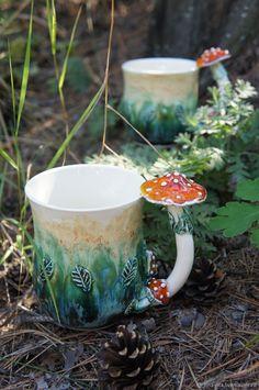 Ceramic Pottery, Pottery Art, Ceramic Art, Slab Pottery, Thrown Pottery, Pottery Studio, Ceramic Bowls, Ceramic Mugs, Mushroom Art