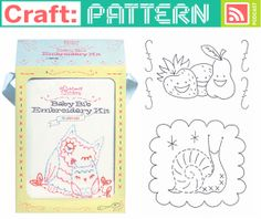 Craftpodcast Babybib Embroidery