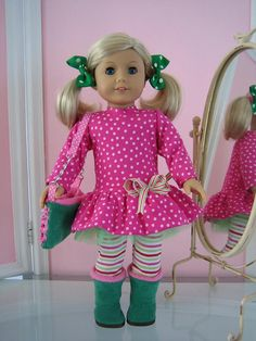 American Girl Doll clothes- outfit; love these colors