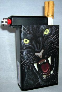 Cigarette Case Panther Black With Built On Lighter Holder by Cigarette Case. $5.95. Holds hard and soft packs along with kings and 100's. Pack holder pulls down 1 inch for 100's. Built on lighter compartment which a smoker can slide over to retrieve a cigarette then slide back and light the cigarette without removing the lighter. Your cigarettes will stay fresh longer and no more lost lighters! This case is great for the boat, auto, bike, hunting, camping, fish...