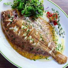 A Dover Solefish cooked wonderfully