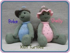 Looking for your next project? You're going to love Knit Turtles: Poke & Shelly by designer Rainebo.