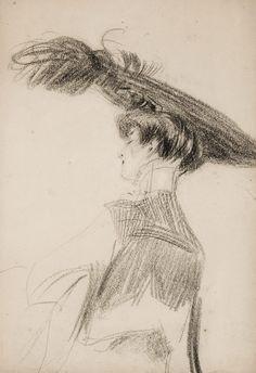 """Giovanni Boldini (Italian, 1842-1931)  """"Ritratto di Rita Lydig"""""""