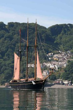 Clovelly, North Devon.. love three mast sailing ships