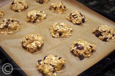 Banana oatmeal cranberry cookies