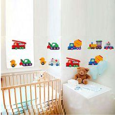 Gyerekszoba falmatricák fiúknak : Járművek, munkagépek és repülők falmatrica -   #markoló #vonat #betonkeverő #tűzoltó  #gyerekszobafalmatrica #falmatrica #gyerekszobadekoráció #gyerekszoba #matrica #faldekoráció #dekoráció New Room, Cribs, Toddler Bed, Baby, Furniture, Home Decor, Cots, Child Bed, Decoration Home