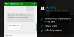 UserPro Livechat by DeluxeThemes Documentation for Setting up Live Chat Addon for UserPro Note: This is an addon. You must have UserPro to use it.Now express yourself better with UserPro live chat.It has a unique easy-to-use interface which makes it a must have