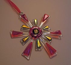 Fused Glass Christmas Star - Tree Ornament / Suncatcher