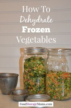 I just heard how to dehydrate frozen vegetables from a reader a few months. She … I just heard how to dehydrate frozen vegetables from a reader a few months. She mentioned to me that she watches for sales on frozen veggies to dehydrate. Canning Food Preservation, Preserving Food, Frozen Vegetables, Fruits And Veggies, Chutney, Classic Kitchen, Canned Food Storage, Dehydrated Food, Dehydrator Recipes