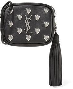 Saint Laurent - Monogramme Blogger Embellished Leather Shoulder Bag - Black