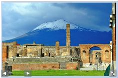 Mount Vesuvius. The volcano which destroyed the Roman cities of Pompeii & Herculaneum near Naples, Italy.