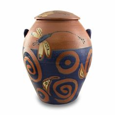 Dragonfly Pond Ceramic Cremation Urn | OneWorld Memorials