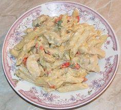 Chicken Pasta with White sauce Recipe White Sauce Recipes, White Sauce Pasta, Chicken Pasta, Paste, Guacamole, Meat, Dinner, Ethnic Recipes, Recipe Recipe
