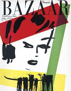 Vintage Harper's Bazaar Cover,1956