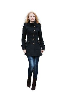 The casual and fashionable military style coat is in an easy tailoring technology. It is comfortable and warm.    * Color option: 1. royal blue: DUUR