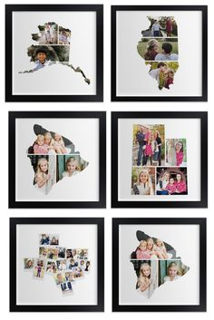 LOVE this gift idea - photos are collaged into state outlines! http://rstyle.me/n/tzz45nyg6