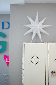 star above by wood & wool stool, via Flickr