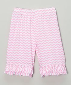 Look what I found on #zulily! Light Pink Zigzag Ruffle Shorts - Infant & Girls by Just Couture #zulilyfinds