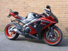 A beautiful Red/Black Carbon GSXR Motorcycle