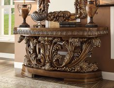 Victorian Design, Victorian Fashion, Console Table, Formal Living Rooms, Furniture Outlet, Antique Gold, Entryway Tables, Solid Wood, Home Furniture