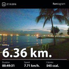 Newton warm-up Recent activity! - 6.36 km Running #health #sport #runstagram  #runstagrammer  #run #running #runkeeper #runnerscommunity #runforabettertomorrow #sgrunners #instarunner  #worlderunners #run #nikerun #nikeplus #loverunning  #justrunlah #newtonwarmup