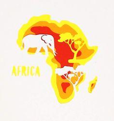 Un trabajo especial para el día del planeta hecho con varias capas de papel, África es el tercer continente más grande del planeta. Se encuentra entre el Océano Pacífico y el Índico. Históricamente cuna de la humanidad, siendo testigo de importante guerras.