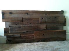 Reclaimed Wood Headboard. $200.00, via Etsy.