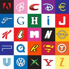 Upload this image of the corporate ABC's. Ask your fans how many logos they recognize. One logo even relates to oral health! (answers below the image)  ANSWERS:  A: Adobe  B: Barbie  C: Crest  D: Disney  E: Euro  F: Ford  G: Google  H: Heineken  I: Intel  J: JVC  K: Kellogs  L: Lego  M: MTV  N: Nike  O: Opel  P: Playstation  Q: Quicktime  R: Reeses  S: Superman  T: TNT Post  U: Unilever  VW: Volkswagen  X: Xbox  Y: Yahoo  Z: Zwitsal