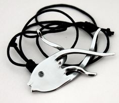 Fork Art Recycled Silverware Jewellery Fish by BenakSilverWear