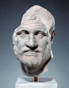 hadrian6:   Portrait of a ManAbout 150 B.C.MarbleH 40.7 cm; W 25 cm; D 31.7 cmThe J. Paul Getty Museum.  http://hadrian6.tumblr.com