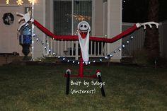 Santa Jack Nightmare Before Christmas Tree Pole Peeker Halloween
