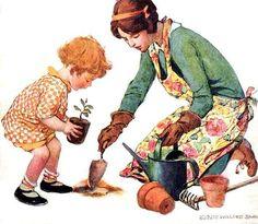 Ilustração de Britta Barlow, Revista Good Housekeeping, maio de 1927.