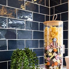 Sweet Subways! Loving our Masia Navy Tile in this amazing @mccarthyhomes kitchen