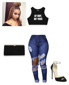 """""""Slim thick wat your  cute ass"""" by amilagarcia12 on Polyvore featuring Minga and Jimmy Choo"""