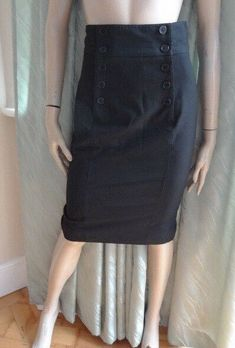 ecc65d2e9 (SEP119) Size 8 OASIS Chic long black pencil skirt #fashion #clothing #