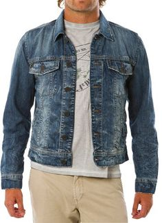 Calvin Klein Jeans Men's Denim Jacket, Dark Wash, Large Calvin ...