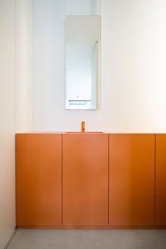 Jelle Van Laer y Ben Depuydt (Imore) interieurarchitectuur orange!