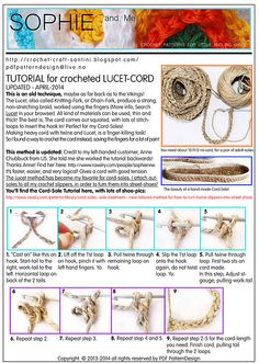 How To Crochet a Lucet-Cord - Free Tutorial Updated, easier method!